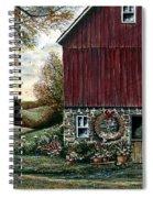 Barn Wreath Spiral Notebook