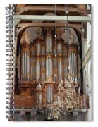 Baroque Grand Organ In Oude Kerk In Amsterdam Spiral Notebook