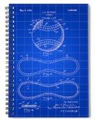 Baseball Patent 1927 - Blue Spiral Notebook