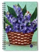 Basket Of Hyacinths  Spiral Notebook