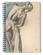 Bather Drying Herself Spiral Notebook