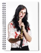 Battered Business Girl Preparing For The Worst  Spiral Notebook