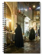 Bazaar Market In Isfahan Iran Spiral Notebook