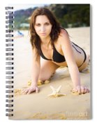 Beach Fun With A Gorgeous Brunette Spiral Notebook