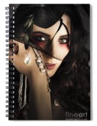 Beautiful Female Fashion Model In Luxury Jewellery Spiral Notebook