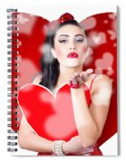 Beautiful Girl In A Bright Love Romance Spiral Notebook