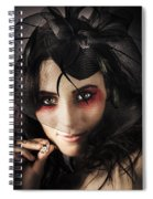 Beautiful Jewellery Woman Wearing Necklace Spiral Notebook