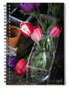Beautiful Spring Tulips Spiral Notebook