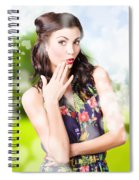 Beautiful Valentines Day Woman. Cosmetic Love Spiral Notebook