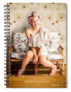 Beautiful Woman Getting New Hair Style At Salon Spiral Notebook