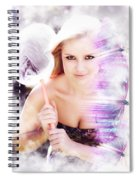 Beautiful Woman In Flight Of Fantasy Spiral Notebook