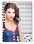 Beautiful Young Brunette Pin-up Woman  Spiral Notebook