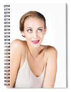 Beautiful Young Woman Spiral Notebook