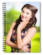 Beauty Girl. Beautiful Young Woman With Clean Skin Spiral Notebook