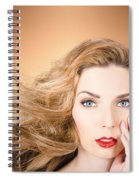Beauty Portrait. Beautiful Woman And Long Red Hair Spiral Notebook