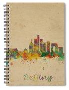 Beijing China Skyline Spiral Notebook