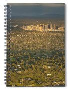 Bellvue Skyline At Sunset Spiral Notebook