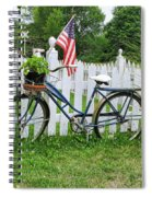 Bicycle And White Fence Spiral Notebook