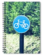 Bicyle Route Spiral Notebook