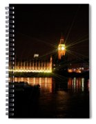 Big Ben And The House Of Parliment On The Thames Spiral Notebook