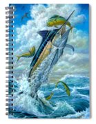 Big Jump Blue Marlin With Mahi Mahi Spiral Notebook