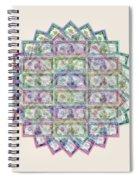 1 Billion Dollars Geometric Tan Spiral Notebook