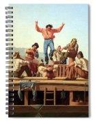 Bingham's The Jolly Flatboatmen Spiral Notebook