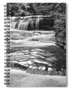 Black And White Cascade Spiral Notebook