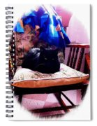 Black Cat With One White Whisker Spiral Notebook
