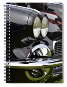 Black Corvette Spiral Notebook