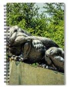 Black Panther Statue Spiral Notebook
