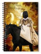 Black Russian Terrier Art Canvas Print Spiral Notebook