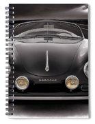 Black Porsche Speedster Spiral Notebook