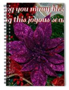 Blessings Christmas Card Spiral Notebook