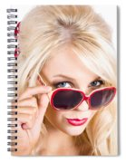 Blond Woman In Sunglasses Spiral Notebook