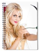 Blond Woman With Cupid Bow Spiral Notebook