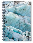 Blue Glacier Ice Background Texture Pattern Spiral Notebook