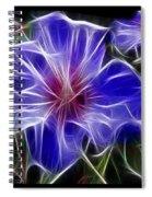 Blue Hibiscus Fractal Spiral Notebook