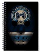 Blue Jackets Jersey Mask Spiral Notebook