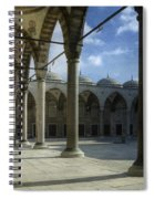 Blue Mosque Courtyard Spiral Notebook