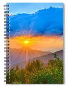 Blue Ridge Parkway Late Summer Appalachian Mountains Sunset West Spiral Notebook