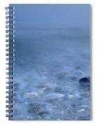 Blue Sea At Sunset Spiral Notebook