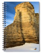 Blue Skies At Monument Rocks Spiral Notebook