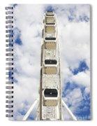 Blue Sky Wheel Spiral Notebook