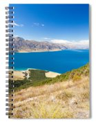 Blue Surface Of Lake Hawea In Central Otago In New Zealand Spiral Notebook