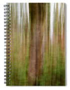 Blurred Trees Spiral Notebook