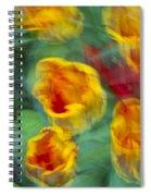 Blurred Tulips Spiral Notebook