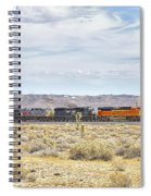 Bnsf 9112 Westbound From Boron Spiral Notebook