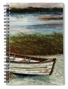 Boat On Shore Spiral Notebook