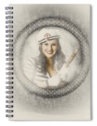 Boating Pin-up Woman On Nautical Shipping Voyage Spiral Notebook